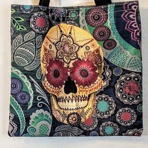 Bags - Sugar Skull Shopping Tote Market Bag NWOT